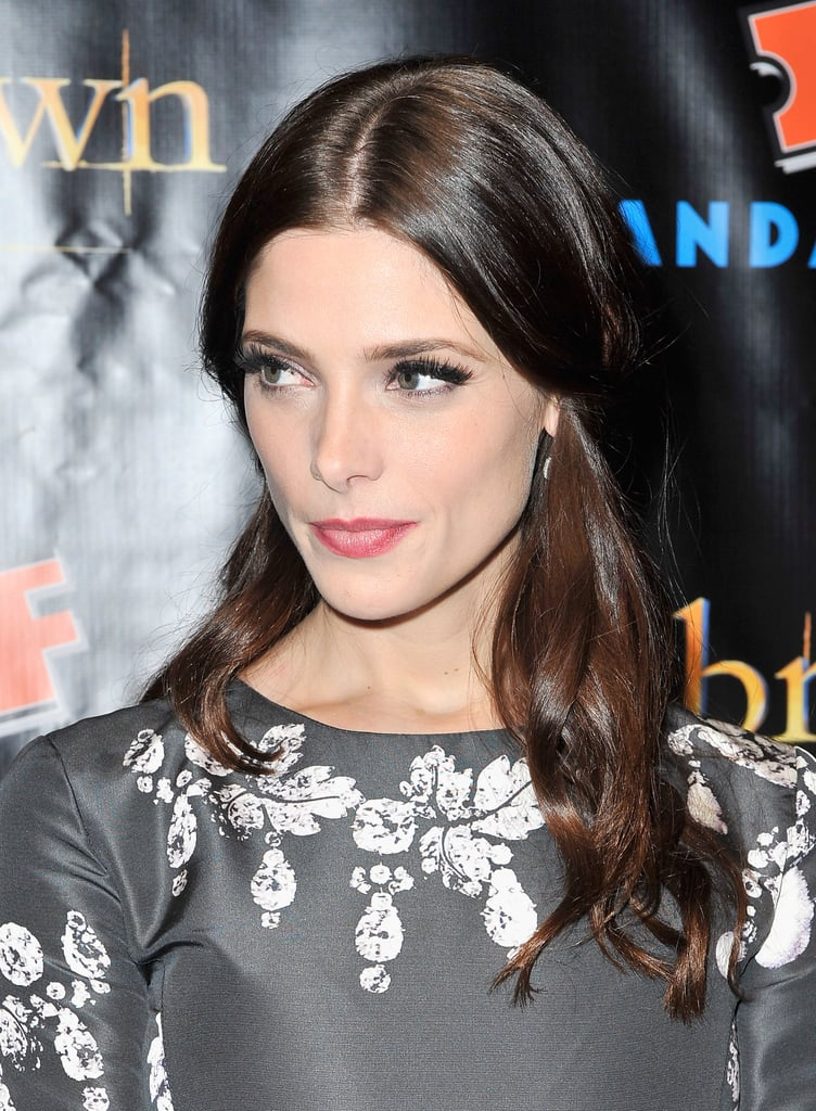 Ashley Green gave a smile at the Breaking Dawn Part 2 party at Comic-Con.