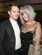 Elijah Wood and Kelly Osbourne caught up over the evening's vegan dinner, prepared by Linda Perry's brother, chef Jade Perry.