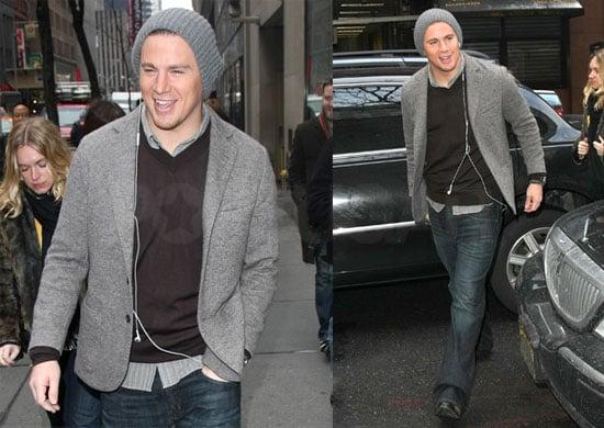 Photos of Channing Tatum Promoting Dear John in NYC