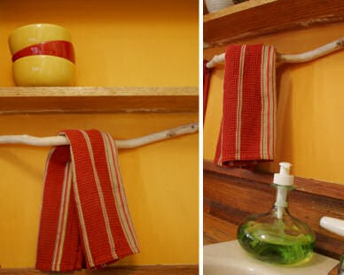 Simple Style: From Tree Branch to Towel Rack