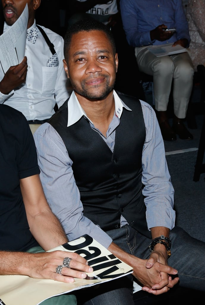 Cuba Gooding Jr. was front row at B Michael America.