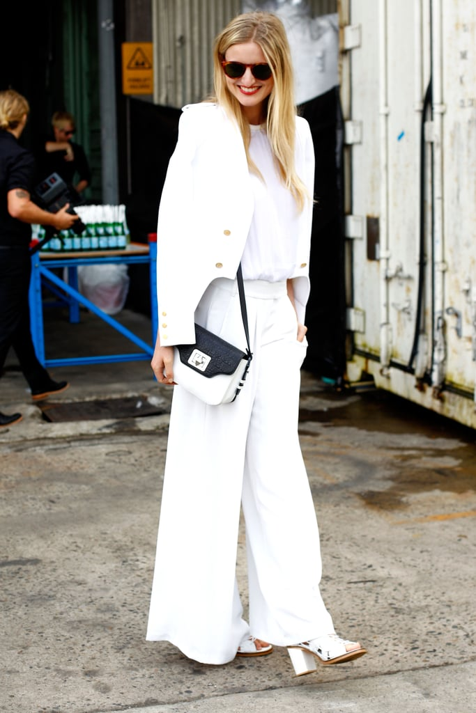 Nothing says Spring like an all-white ensemble.