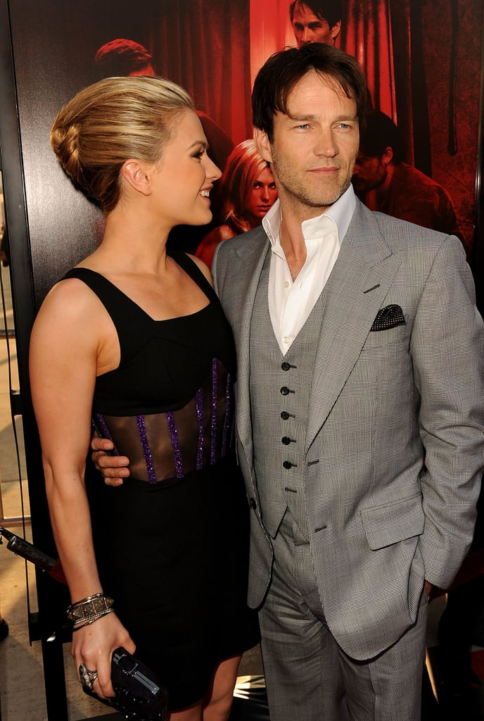 Anna Paquin flashed her husband, Stephen Moyer, a smile as they walked the True Blood red carpet.
