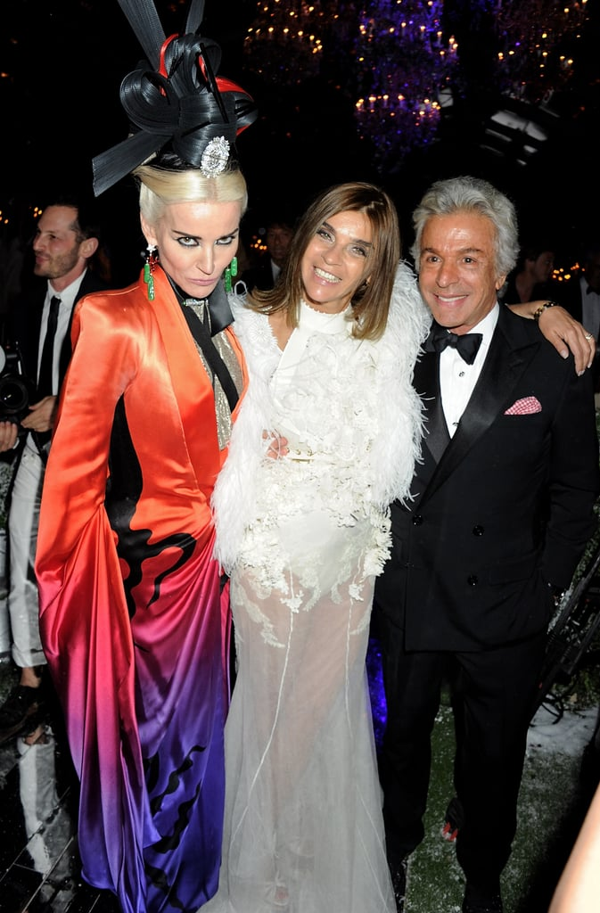 Daphne Guinness in Alexander McQueen, Carine Roitfeld in Givenchy couture, Giancarlo Giammetti