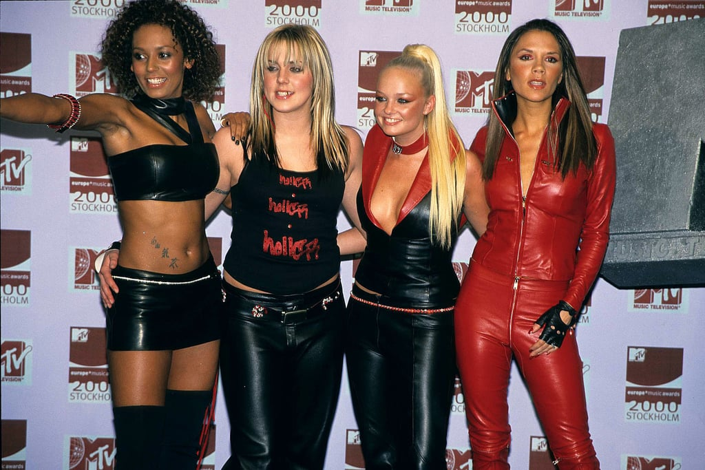The Spice Girls wore leather for their appearance at the November 2000 MTV Europe Awards in Stockholm.