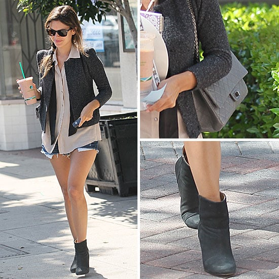 Rachel Bilson Wearing Boots and Shorts in LA: Get the Look