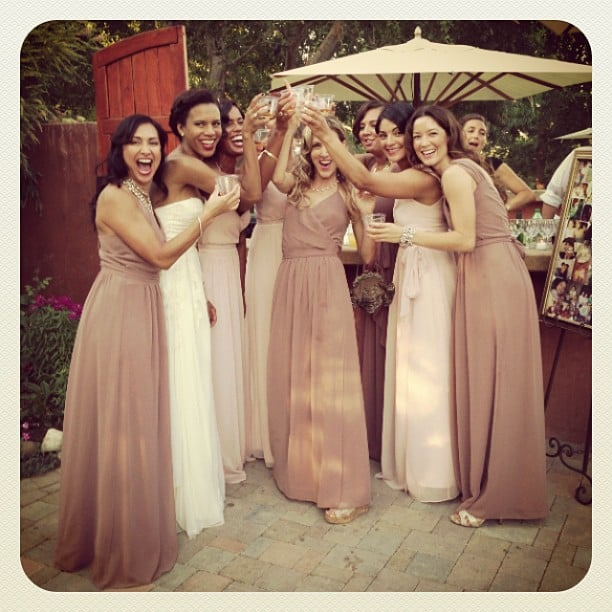 Grasie Mercedes took a shot with her bridesmaids. Source: Instagram user voodoolou