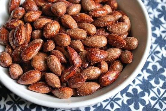 Roasted Maple Cinnamon Almonds