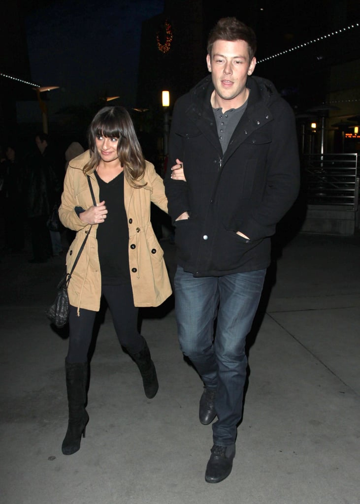 Lea Michele and Cory Monteith saw Argo.