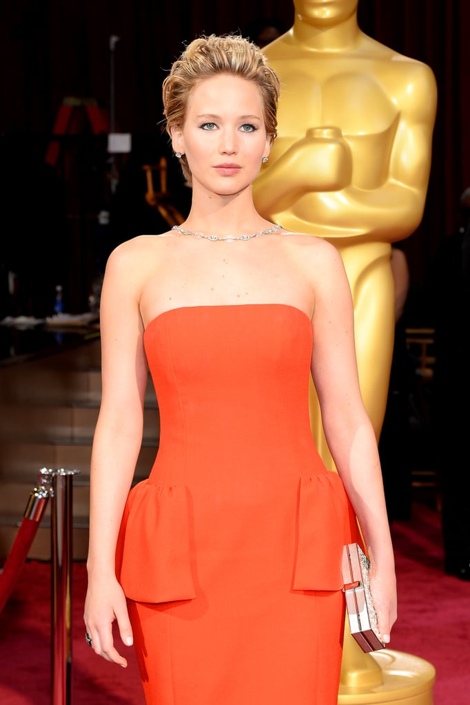 """If you win tonight, I think we should bring you the Oscar."" — On Jennifer Lawrence's balance issues"