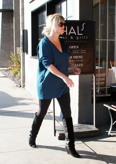 Resse Witherspoon stepped out in black boots and leggings in LA.