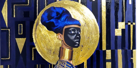 Artist's Dazzling Self-Portraits Explore The Cosmic Power Of Gold