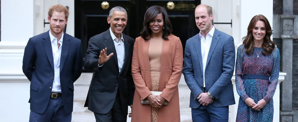 Barack and Michelle Obama Get Caught in the Rain With Prince Harry, Prince William, and Kate Middleton