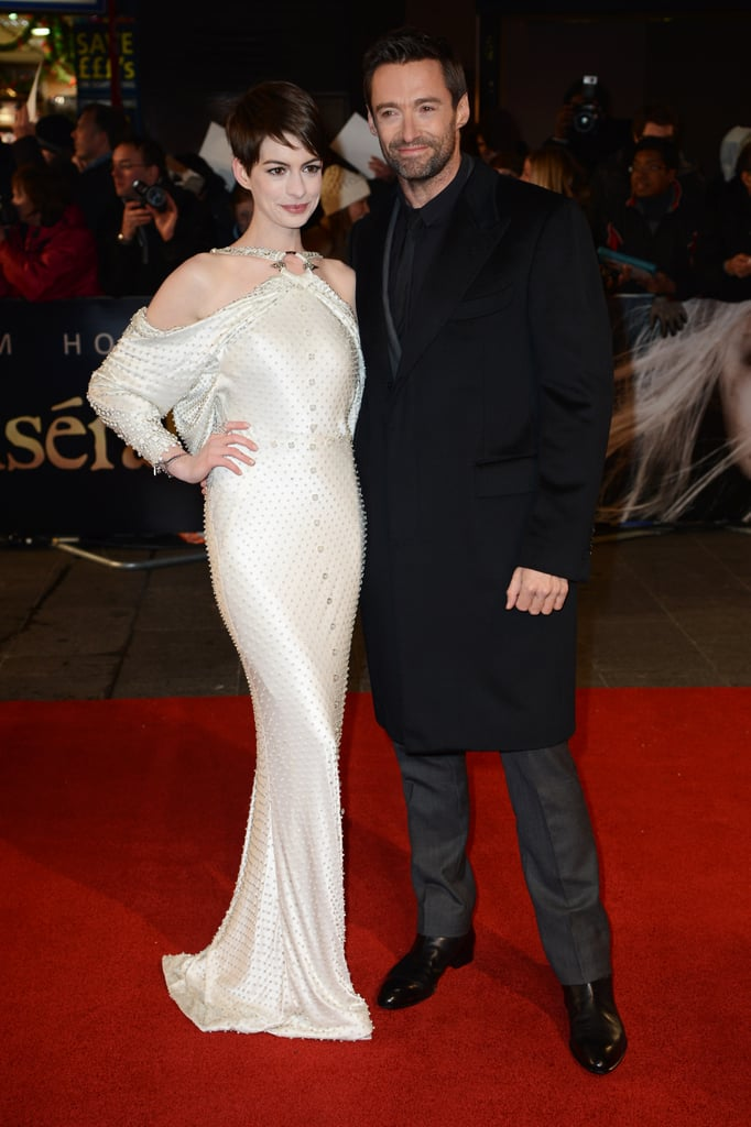 One last shot of Anne and her Les Misérables co-star Hugh Jackman on the red carpet.