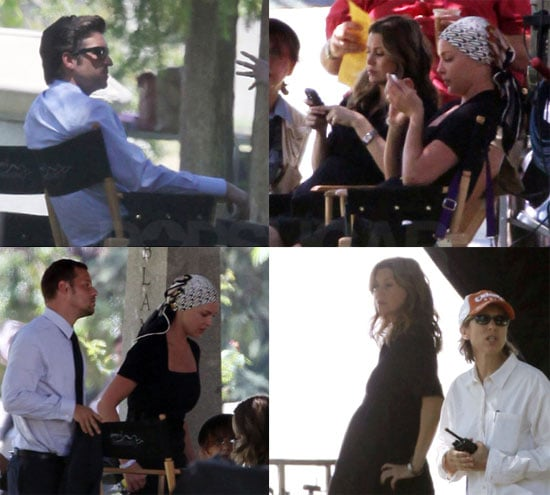 Photos on Set Of Grey's Anatomy With Pregnant Ellen Pompeo, Patrick Dempsey, Katherine Heigl and More