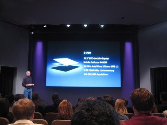 Steve Jobs Announces New MacBook Air at 2008 Apple Event