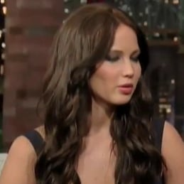 Jennifer Lawrence on Letterman Video