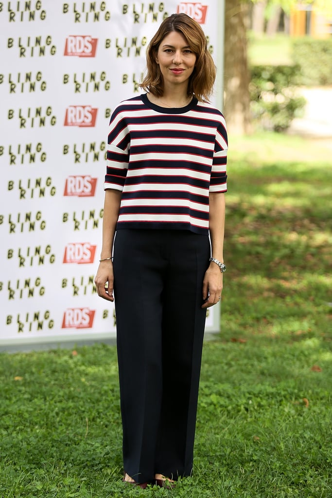 At a Rome Bling Ring press event, Sofia Coppola caught our eye in stripes.