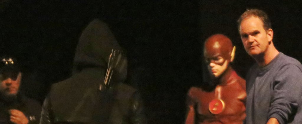 Here Are Set Pictures of the Flash/Arrow Crossover!