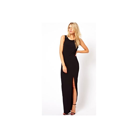 I picked up an amazing front-split skirt from ASOS a while ago, and now I'm eying of this black maxi dress with a sexy split. I'll wear this cut out boots and red lips. —Alison, Health and Beauty Editor Dress, approx $ 45, ASOS