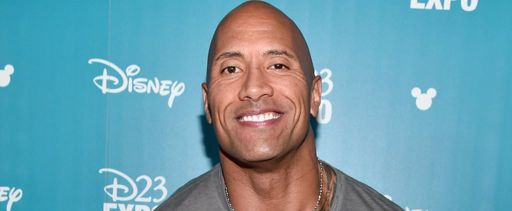 Even Baby Jasmine Is Mesmerized by Dad Dwayne Johnson's Huge Muscles