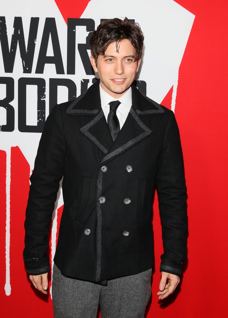 Jackson Rathbone wore a peacoat to the premiere of Warm Bodies.