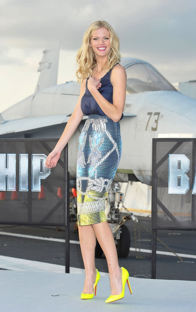 Brooklyn Decker promoted Battleship in a Peter Pilotto skirt back in April 2012.