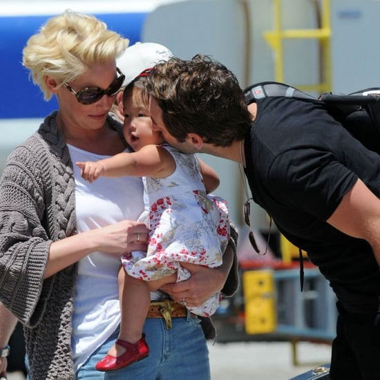 Katherine Heigl, Josh Kelley, and Naleigh Airport Pictures