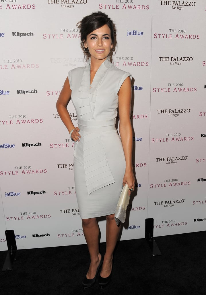 Camilla Belle went all-out elegant in a creamy, structural sheath.