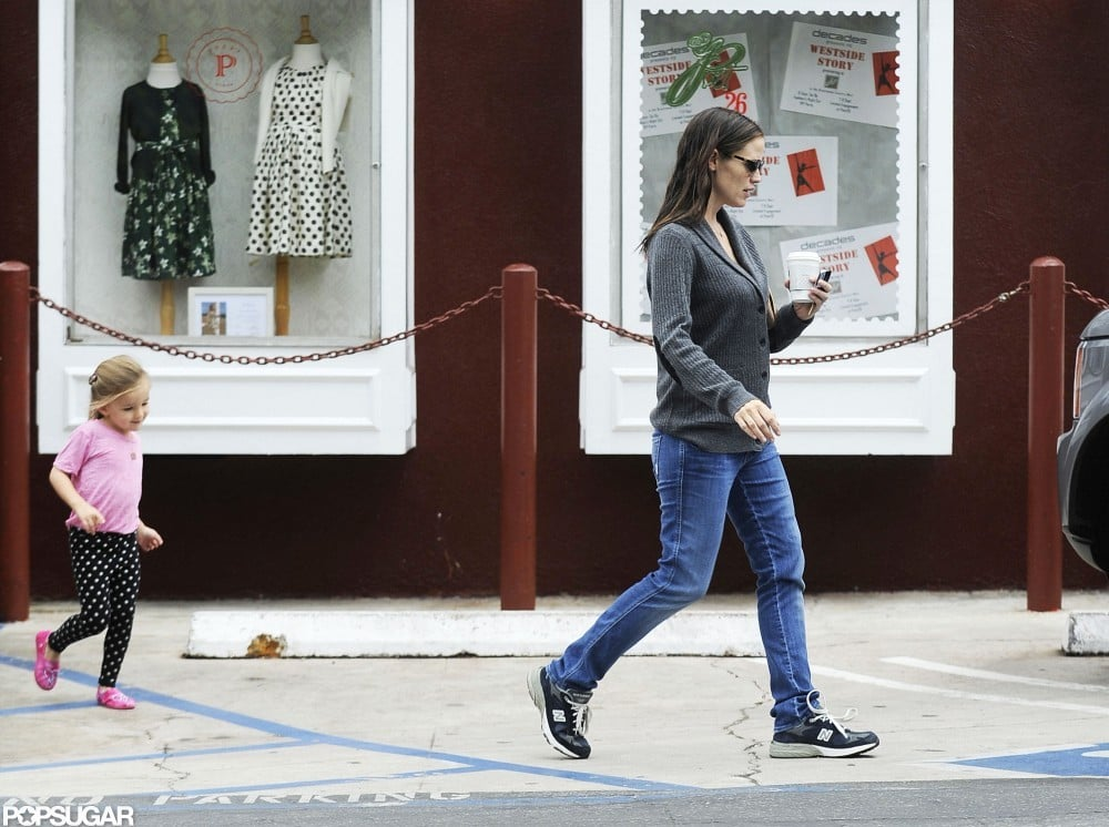 Seraphina Affleck followed mom Jennifer Garner to the car after picking up coffee in LA.