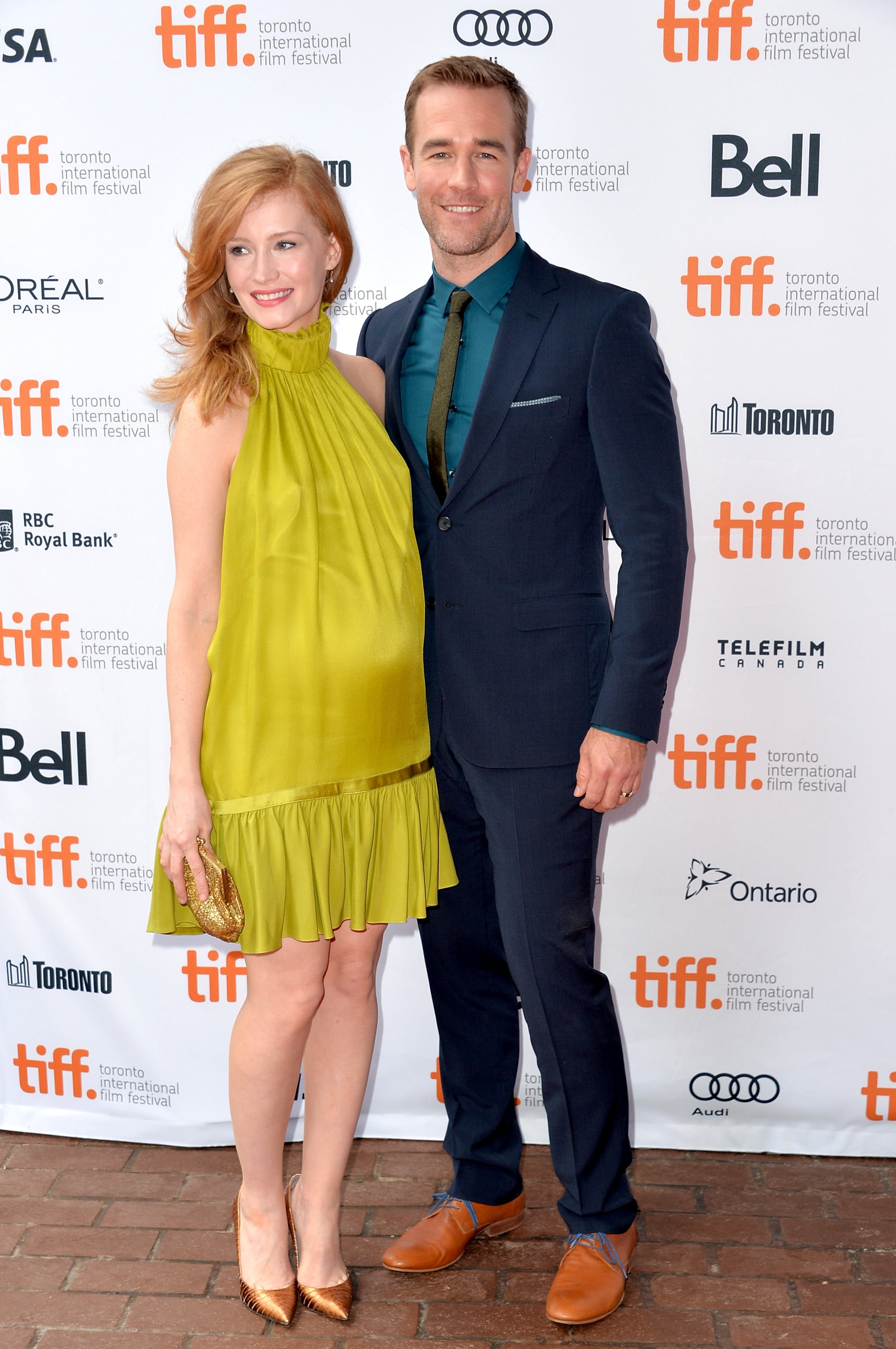 James Van Der Beek brought his pregnant wife, Kimberly, as his date to the Labor Day premiere.