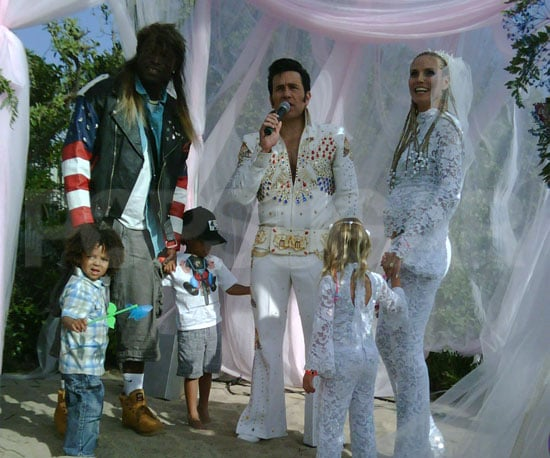 "Photo Slide of Heidi Klum, Seal and Their 3 Kids at their ""White Trash"" Wedding"