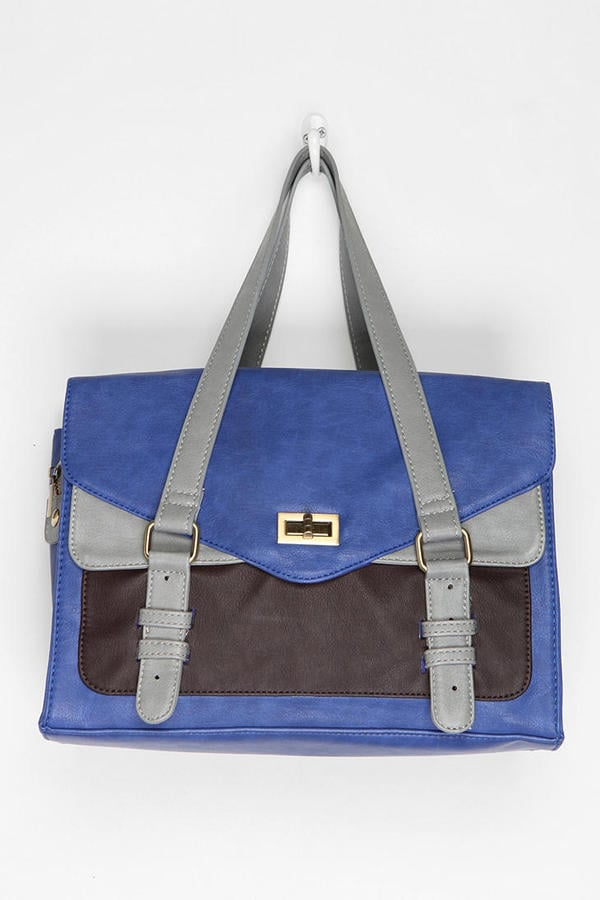 We're getting a cool retro vibe from this colorblock tote. Kimchi Blue Structured Colorblock Tote Bag ($79)