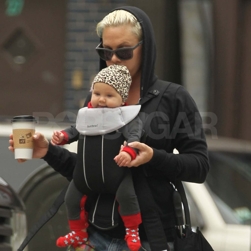 Pink with baby Willow in NYC.
