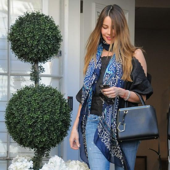 Sofia Vergara Denim Street Style April 2016