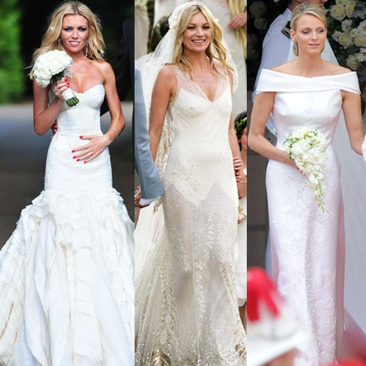 Abbey Clancy, Kate Moss and Charlene Wittsock Wedding Dresses