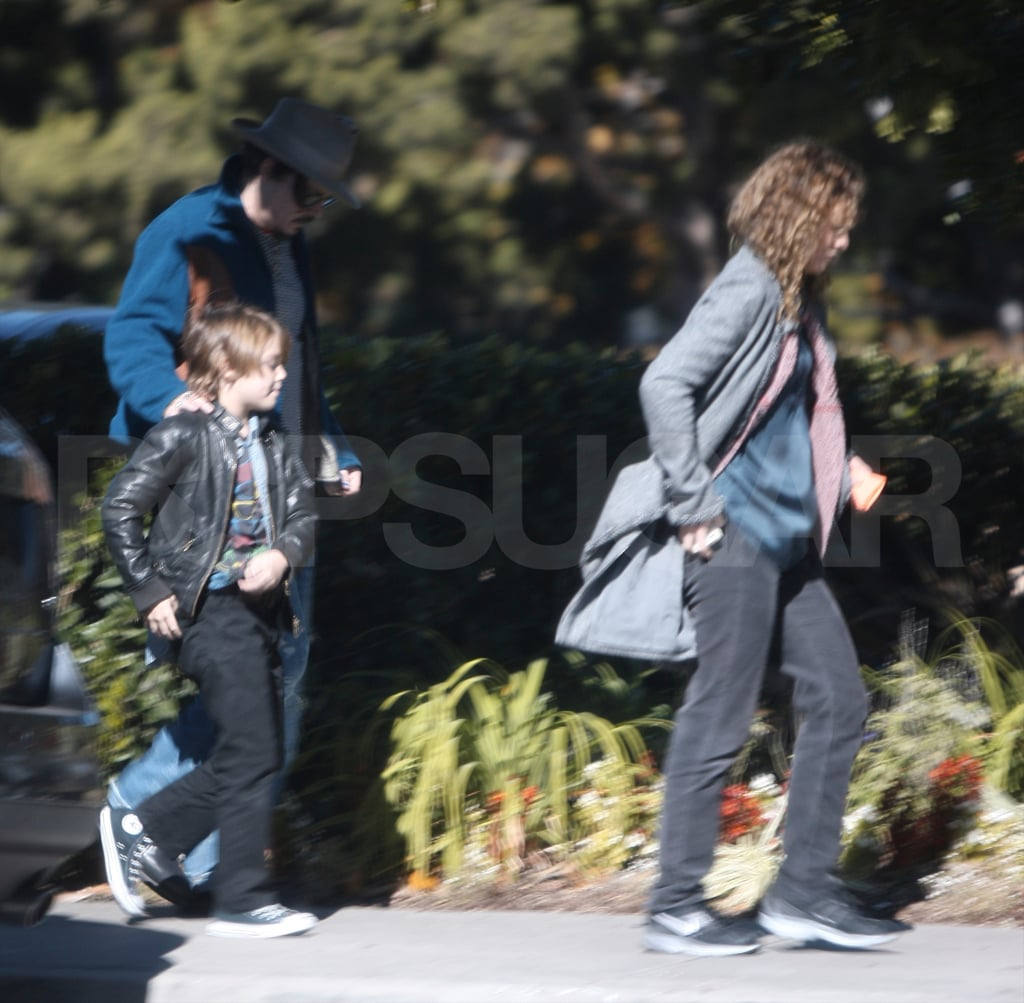 Johnny Depp and Vanessa Paradis out in LA with their little Jack Depp!