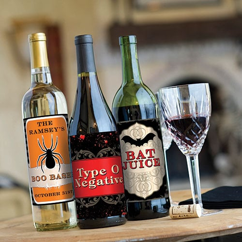 Halloween Wine Bottle Labels