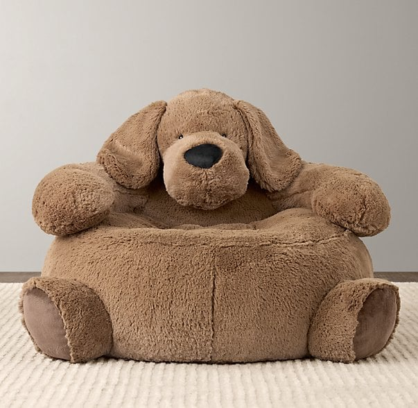 For Infants: Cuddle Plush Dog Chair