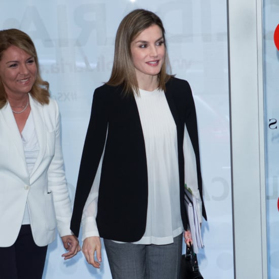 Queen Letizia Wearing a Cape April 2016