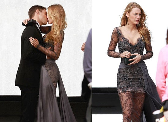 Blake Lively Kissing Sam Page While Filming Gossip Girl in New York