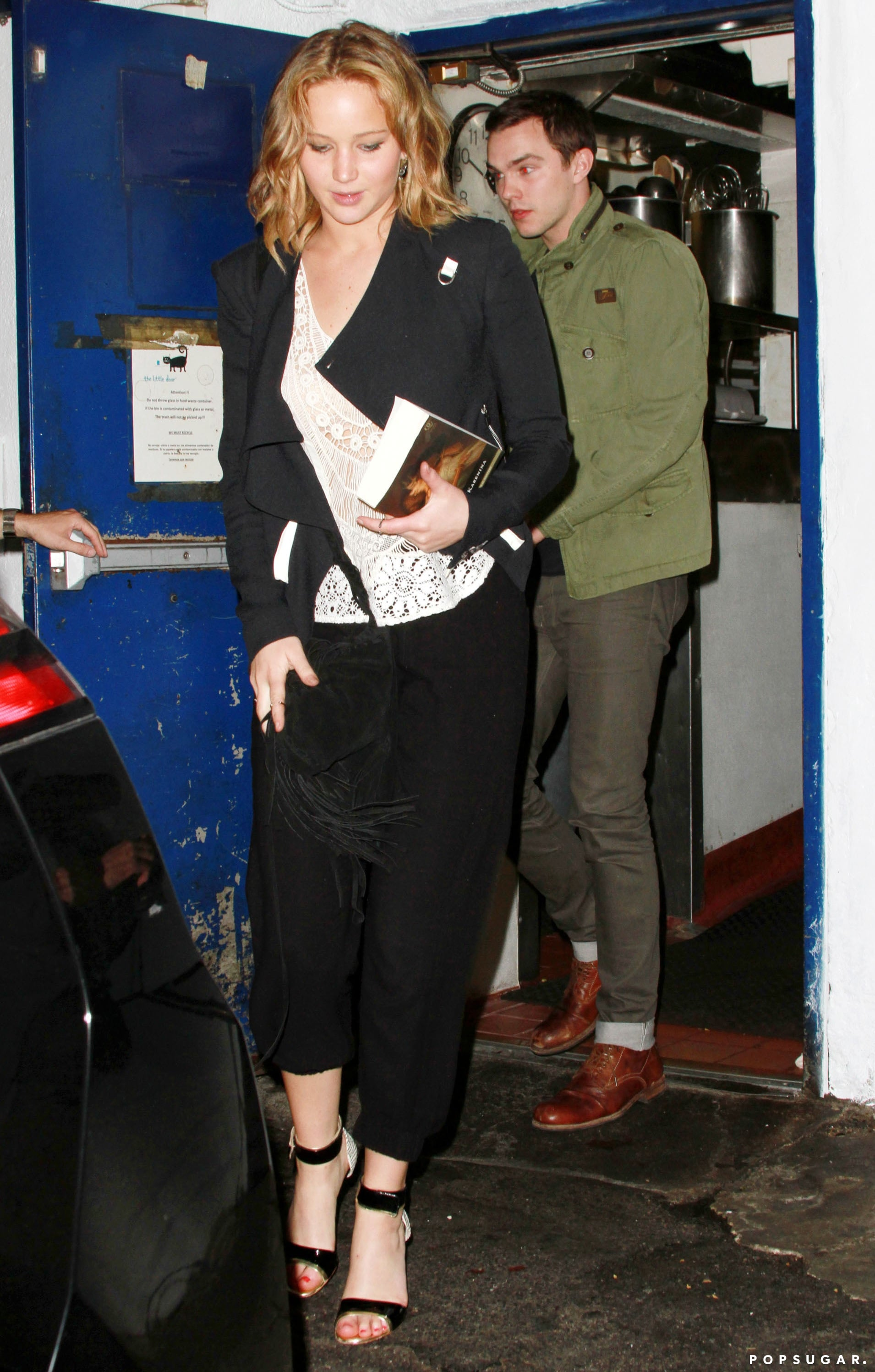 Jennifer Lawrence and Nicholas Hoult reunited for a dinner date in LA.
