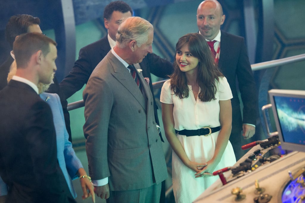 Jenna-Louise Coleman and Matt Smith showed the royals how to fly the TARDIS.