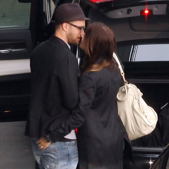 Jessica Biel and Justin Timberlake at the Airport