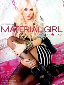 July 2010: Madonna's Material Girl Ad Campaign