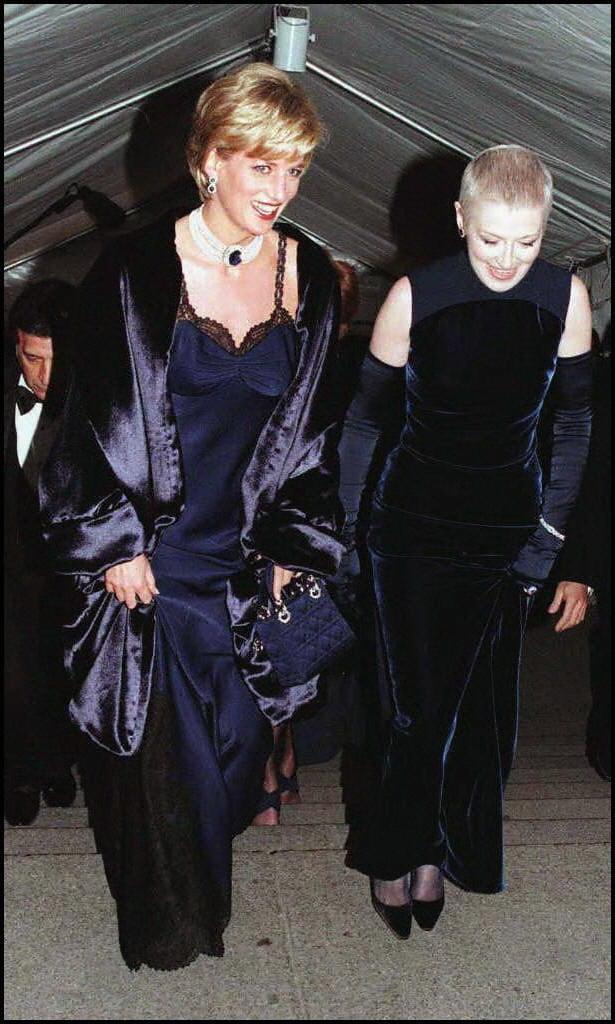 Princess Diana and Liz Tilberis — 1996