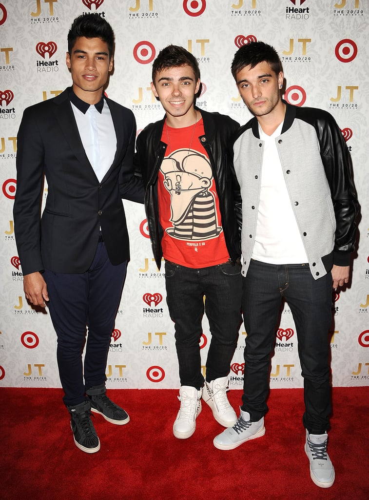 Siva Kaneswaran, Nathan Sykes and Tom Parker from The Wanted dropped by the event.