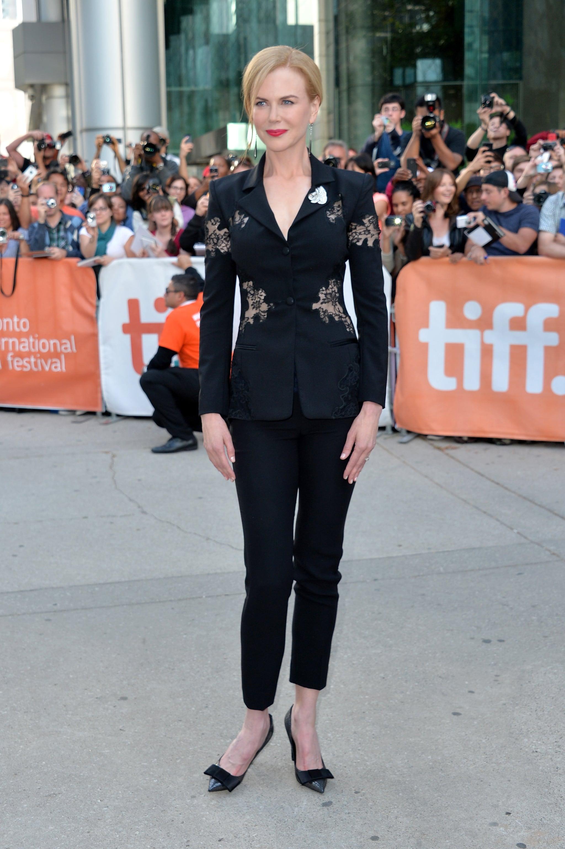 Nicole Kidman suited up in Altuzarra for the premiere of The Railway Man.