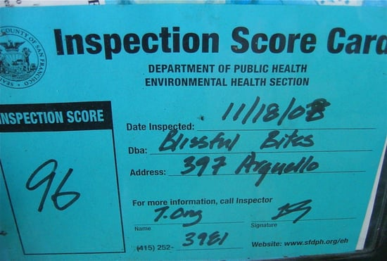 Poll: Do You Care About a Restaurant's Health Inspection Rating?