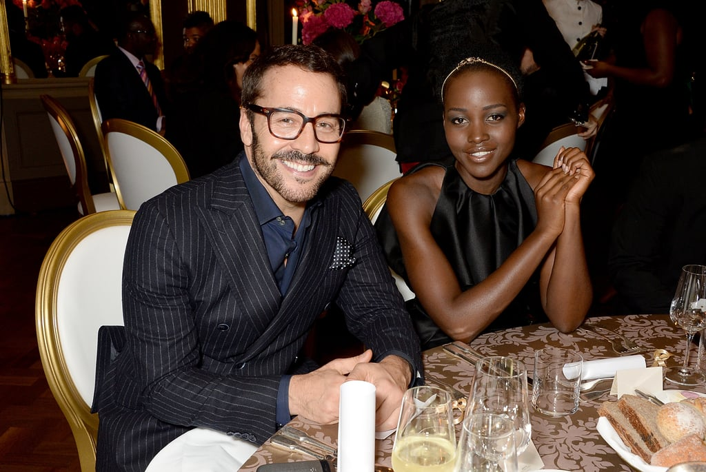 Lupita Nyong'o sat with Jeremy Piven at the Sindika Dokolo Art Foundation's dinner in London on Saturday.